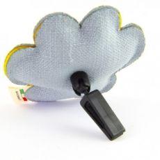 Dettaglio clip profumatore zampa fior di cotone