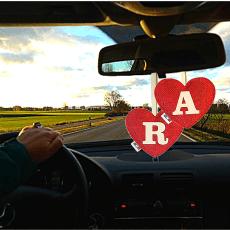 Profumatore cuore rosso lettera A