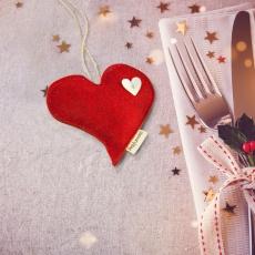 Profumatore cuore sagomato rosso con cristallo