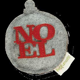 Profumatore palla di Natale Noel grigio