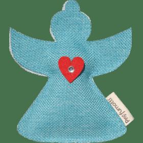 Profumatore Angioletto azzurro con Cuoricino & Cristallo