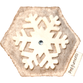 Profumatore fiocco di neve beige con Cristallo