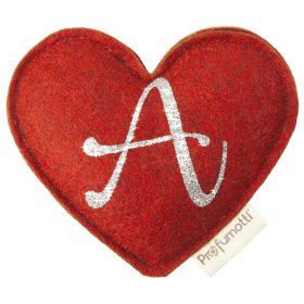 Heart diffuser with glitter letter A