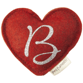 Heart diffuser with glitter letter B