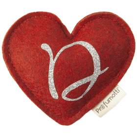 Profumatore cuore con glitter lettera D