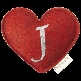 Profumatore cuore con glitter lettera J