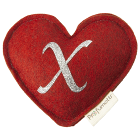 Heart diffuser with glitter letter X
