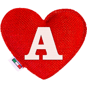 Red Heart diffuser letter A