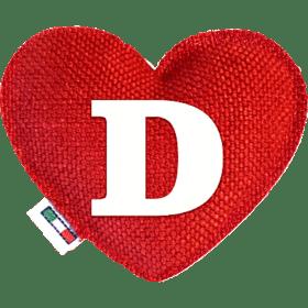 Profumatore cuore rosso lettera D