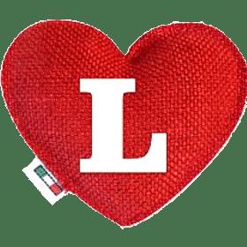 Profumatore cuore rosso lettera L