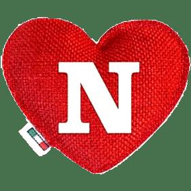 Profumatore cuore rosso lettera N