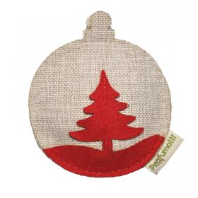 Profumatore palla di Natale con albero beige