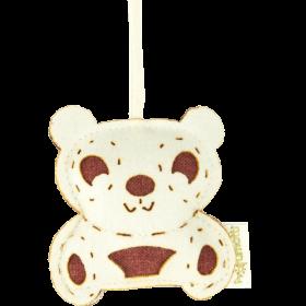 Profumatore panda passion fruit & melograno in lana 100%