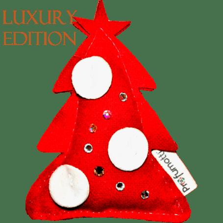 Profumatore albero di Natale rosso con cristalli