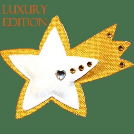 Profumatore stella cometa gialla con cristalli