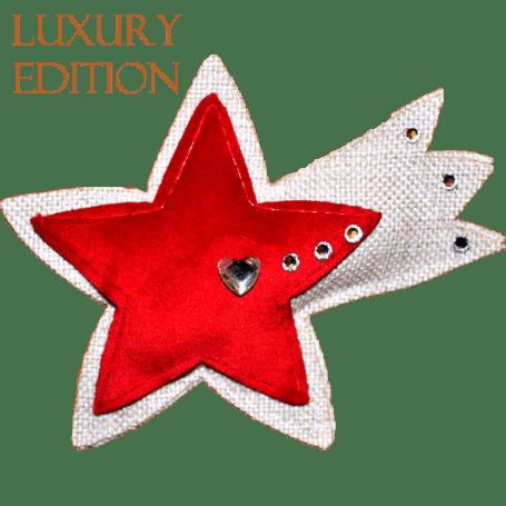 Profumatore stella cometa rossa e bianca con cristalli
