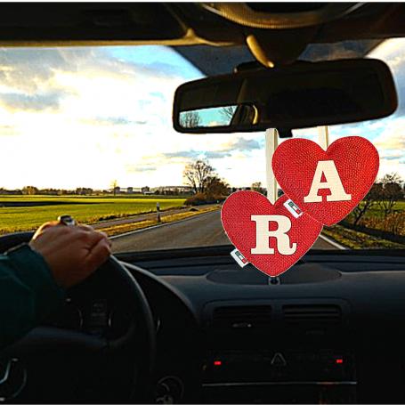 Profumatore cuore rosso lettera R