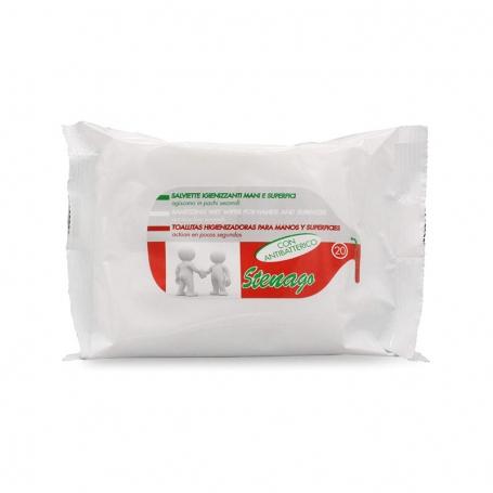 Salviette igienizzanti con antibatterico - 20pz