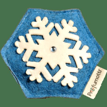 Profumatore fiocco di neve blu con Cristallo