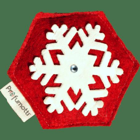 Profumatore fiocco di neve rosso con Cristallo