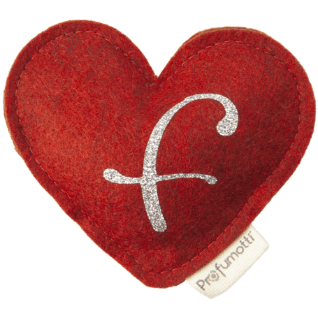 Heart diffuser with glitter letter F