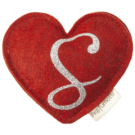 Heart diffuser with glitter letter S