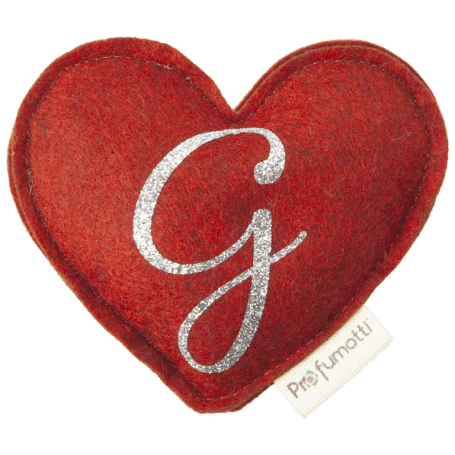 Heart diffuser with glitter letter G