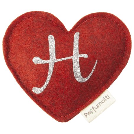 Heart diffuser with glitter letter H