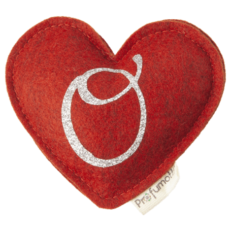 Heart diffuser with glitter letter O