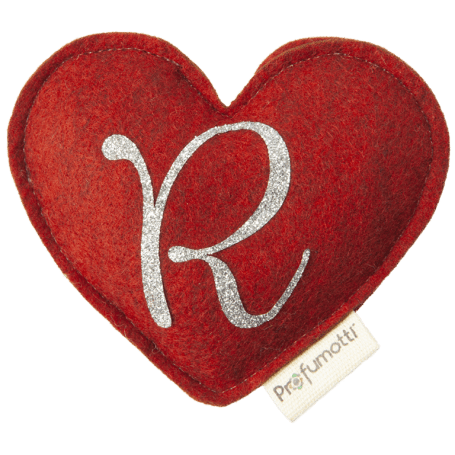 Heart diffuser with glitter letter R