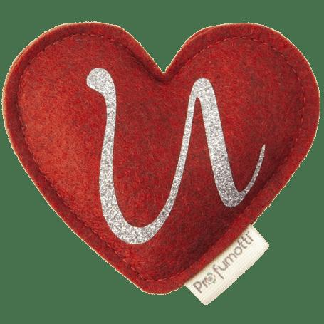 Heart diffuser with glitter letter U