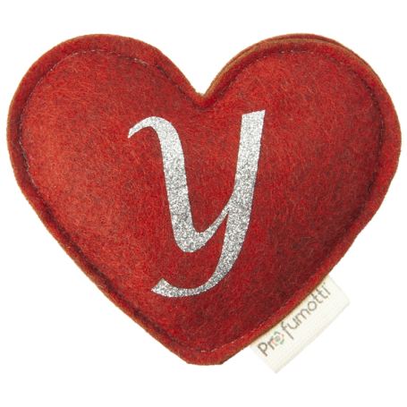 Profumatore cuore con glitter lettera Y