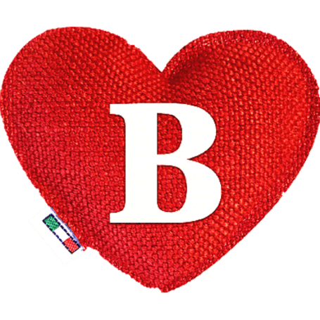 Profumatore cuore rosso lettera B
