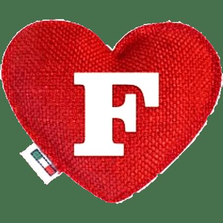 Profumatore cuore rosso lettera F
