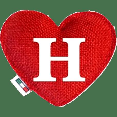 Profumatore cuore rosso lettera H