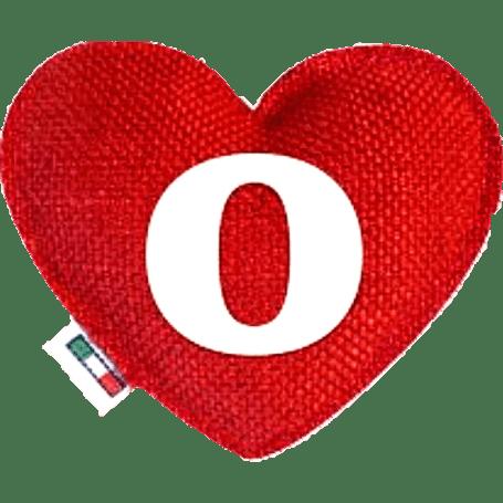 Profumatore cuore rosso lettera O