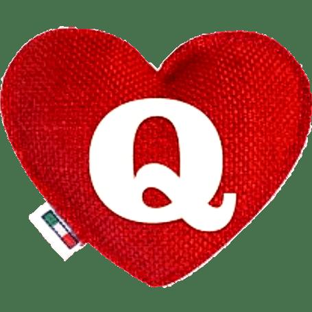 Profumatore cuore rosso lettera Q