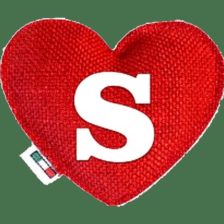 Profumatore cuore rosso lettera S