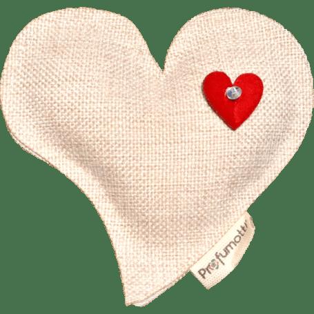 Profumatore cuore sagomato naturale con cristallo