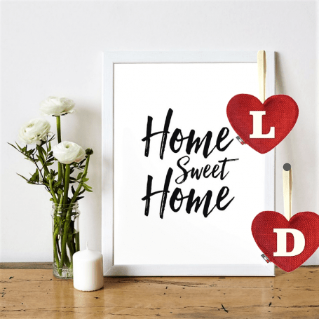 Red Heart diffuser letter D