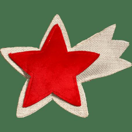 Profumatore stella cometa rossa e beige